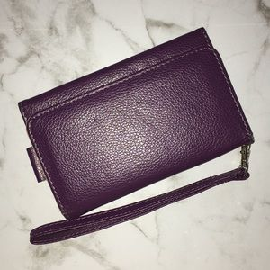 Accessories - Purple Phone Case with Card Slots